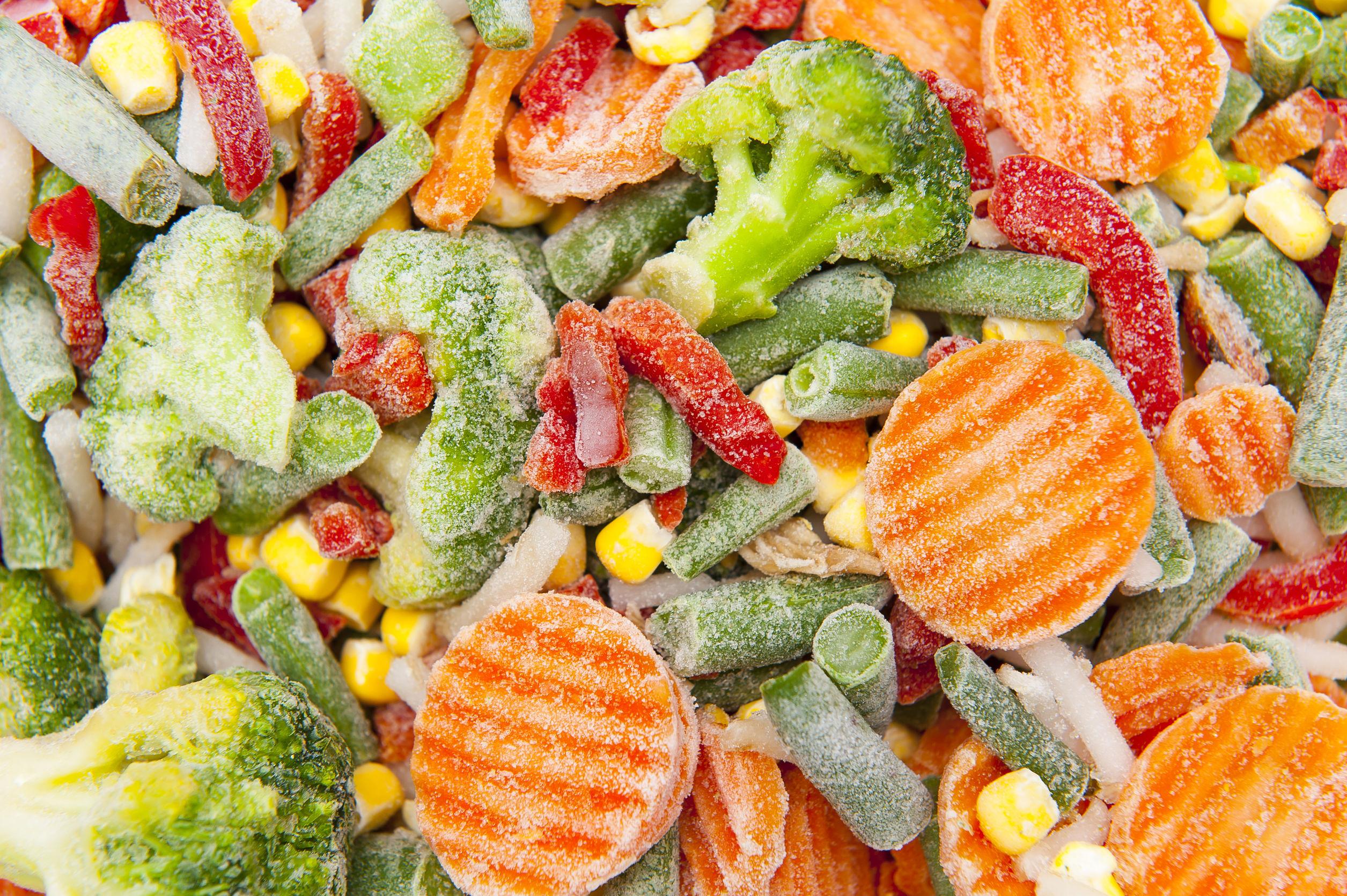 замороженные овощи с фото и названиями оборудована